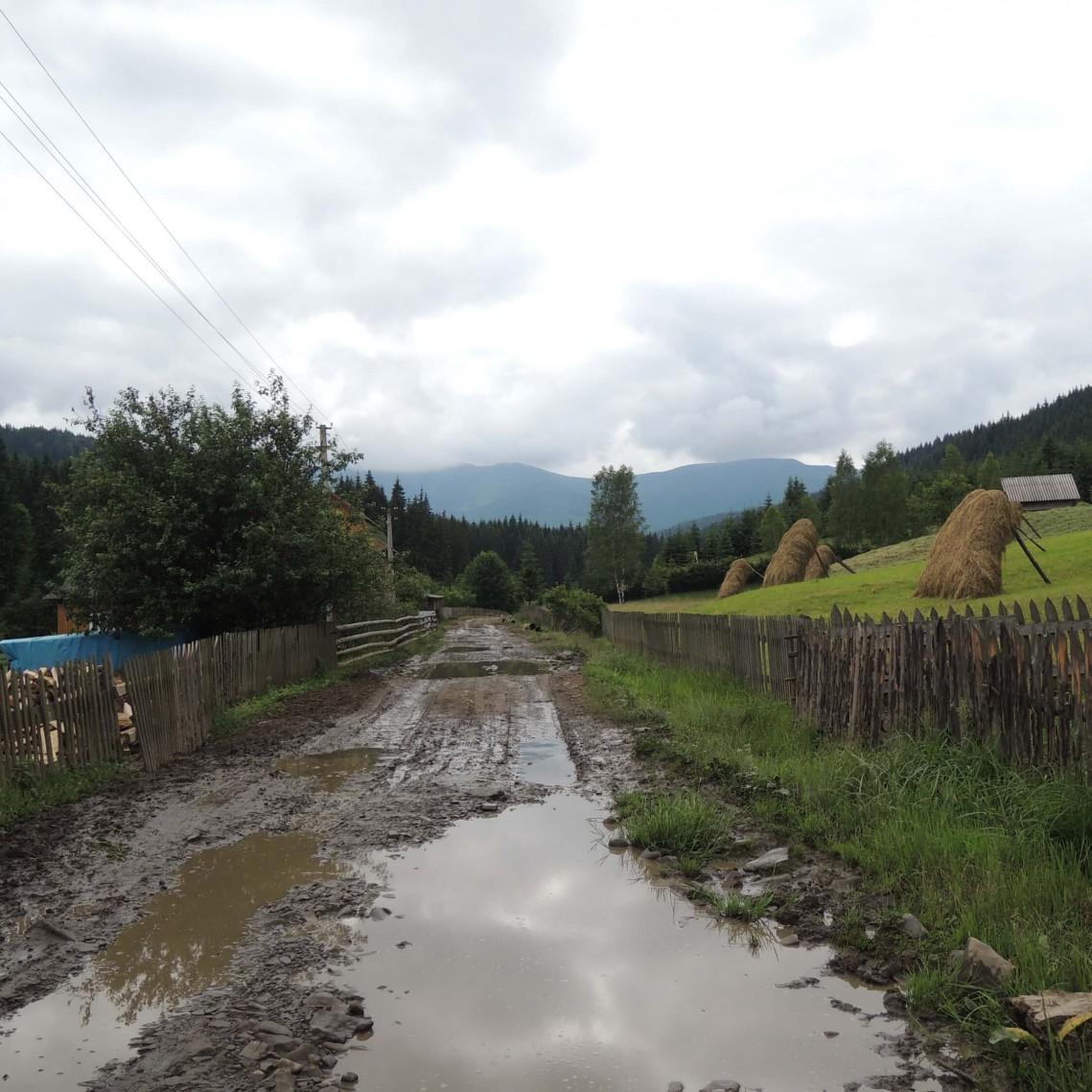 Село Климпуши; дорога